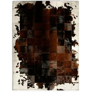 cowhide rug brown